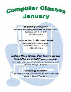 January computer classes