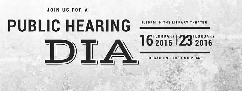 DIA Public Hearings