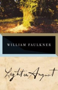 book cover for Light in August by Faulkner