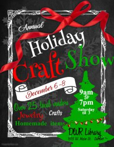 holiday craft show poster