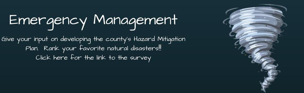 Hazard Mitigation Plan Survey