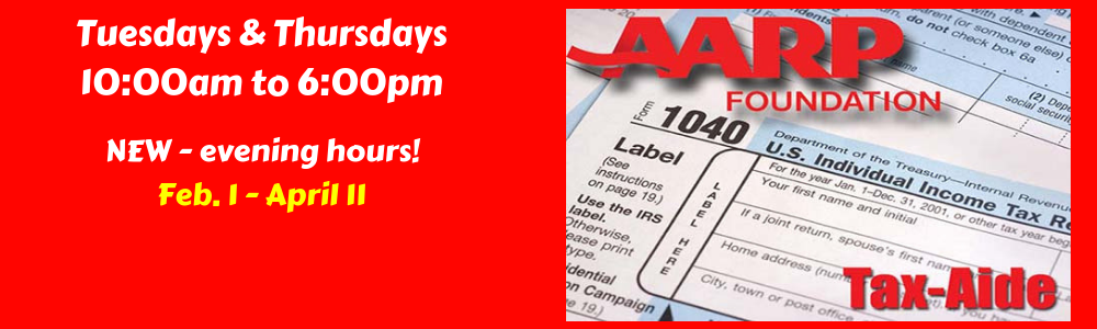 AARP tax aide banner