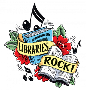 libraries rock sign