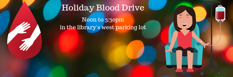 holiday blood drive banner