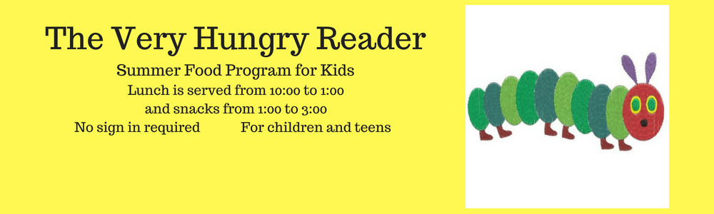 banner for summer feeding program The Very Hungry Reader