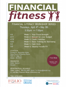 poster for financial fitness course