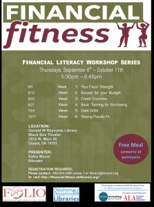 flyer for financial fitness class