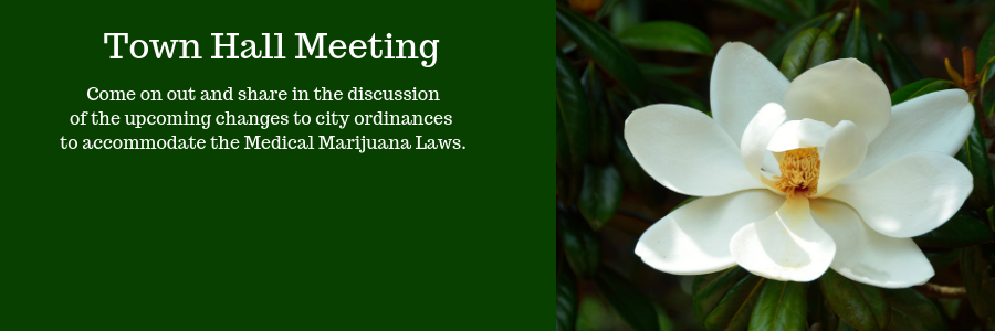 medical marijuana town hall meeting banner