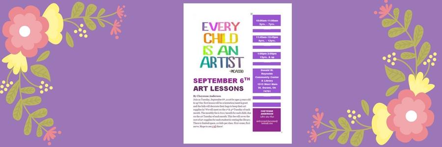 Art class banner