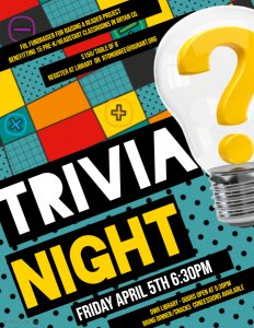 poster for trivia night