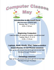 list of computer classes for May