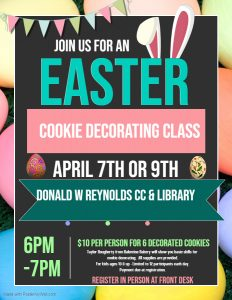 Join us for an Easter Cookie Decorating Class