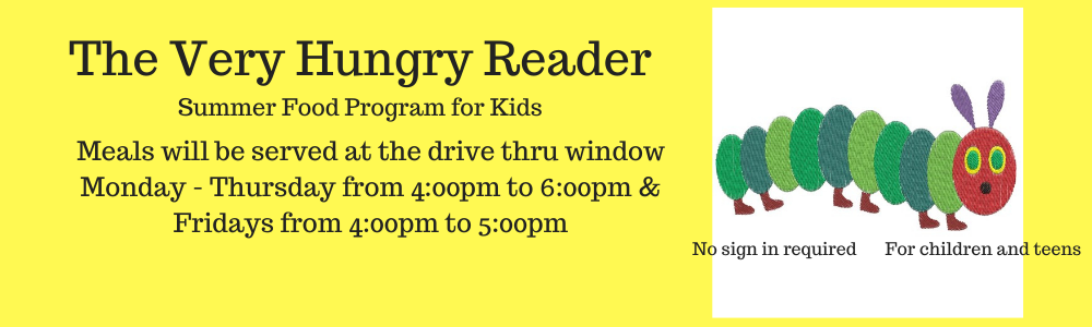 The Very Hungry Reader drive thru meals new times May 2021