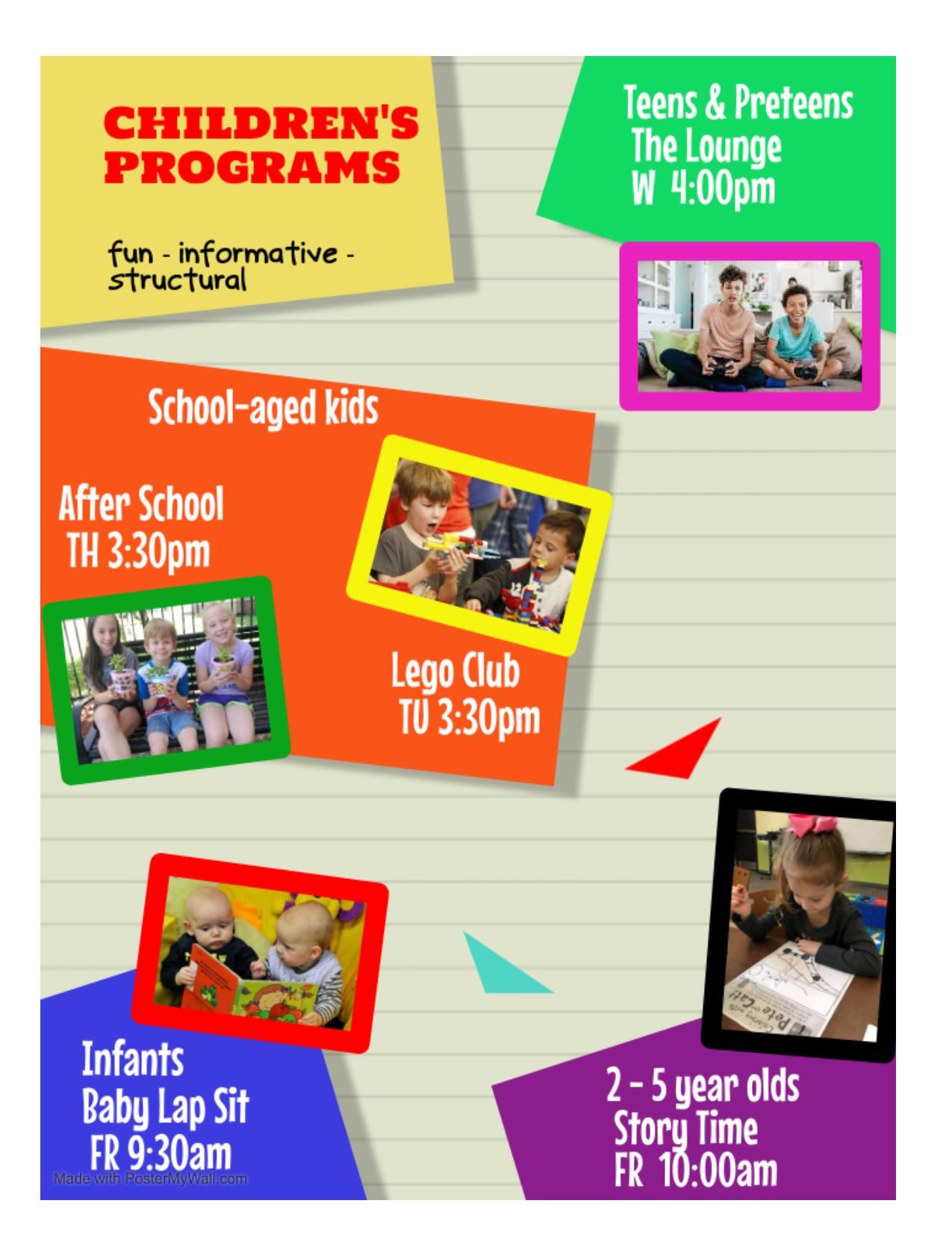 Children's Program poster July2021
